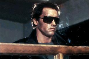 Arnold Schwarzenegger wearing Gargoyles ANSI Classics sunglasses in Terminator