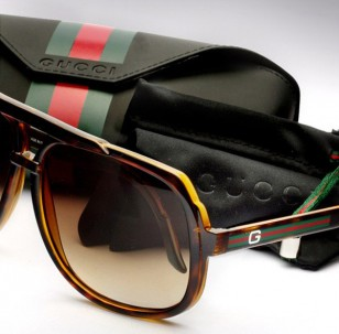 Gucci 1622/S Plastic Aviator Heritage Edition with case