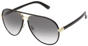 Gucci 2887, black leather wrap, gold frame, color code 0UZAA/JJ