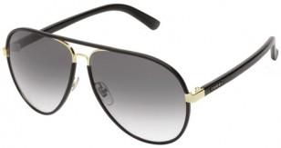 Gucci GG2887/S gold frame, black leather wrap (color code 0UZAA/JJ)