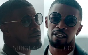 Jamie Foxx wears Gucci 4252/N/S sunglasses in the music video You Changed Me (ft. Chris Brown).