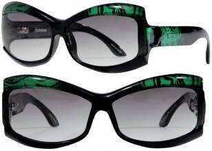 Jee Vice Fabulous, green silk frame, G15 fade polarized lenses