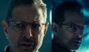 Jeff Goldblum wearing transparent eyeglasses in Independence Day: Resurgence.