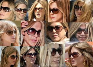 Jennifer Aniston wearing Tom Ford Jennifer sunglasses on many occasions