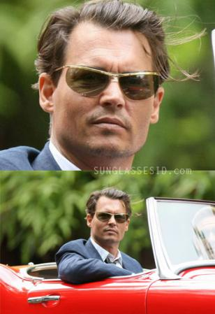Johnny Depp's cool retro sunglasses in the upcoming film The Rum Diary