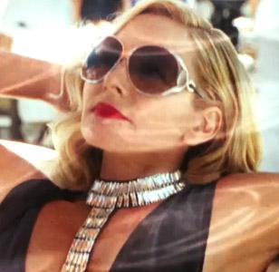 Kim Cattrall wearing Roberto Cavalli Corniola sunglasses in Sex And The City 2