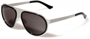 L.G.R. Comoros, stainless steel frame with Zeiss Organic CR 39 grey lenses