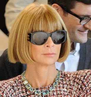 Anna Wintour attends the Erdem show during London Fashion Week S/S 2010