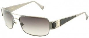 Loree Rodkin Hunter Sunglasses by Sama Slate with Gray Gradient Lenses