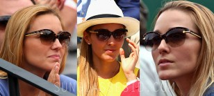 Jelena Djokovic wears a pair of Louis Vuitton sunglasses on several different events in 2015.