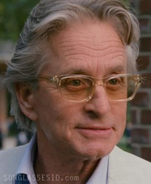 Michael Douglas wearing the glasses in the new movie Wall Street 2: Money Never