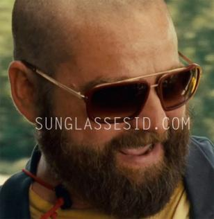 Actor Zach Galifianakis (as Alan Garner) wears a pair of red Mosley Tribes Broml