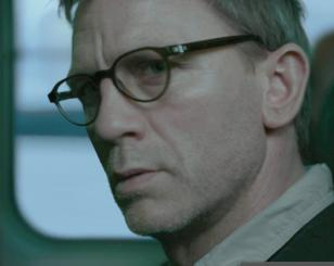 Daniel Craig wears Mykita Helmut eyeglasses in the movie The Girl with the Drago