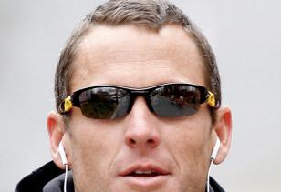 Lance Armstrong wearing Oakley Flak Jacket
