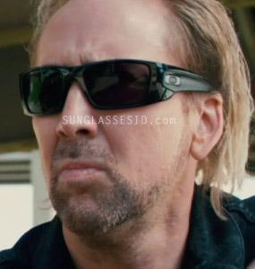 Nicholas Cage wearing Oakley Fuel Cell sunglasses in the movie Drive Angry 3D