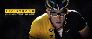 Lance Armstrong wearing Oakley Jawbone Livestrong