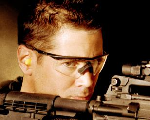 Colin Farrell wearing Oakley M Frame glasses in the movie S.W.A.T.