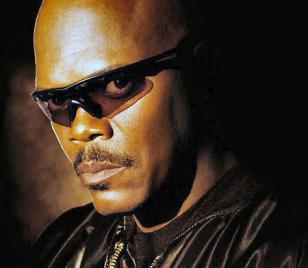 Samuel L. Jackson wearing Oakley M Frame Hybrid sunglasses in S.W.A.T.
