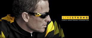 Lance Armstrong wearing Oakley Straight Jacket Livestrong