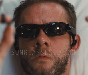 Character Sin (played by Dominic Monaghan) wears Oakley Thump Pro sunglasses in Soldiers of Fortune
