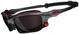 Oakley Wind Jacket, pictured here in 'Ducati' colors. The clear frame and clear
