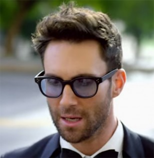 Singer Adam Levine seems to wears Oliver Peoples Afton glasses in the Maroon 5 Sugar music video.