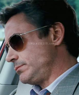 Robert Downey Jr. wears Oliver Peoples Benedict sunglasses with gold frame and c