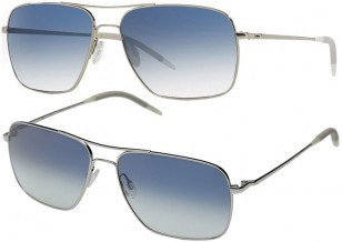 Oliver Peoples Clifton in Silver + Chrome Sapphire VFX Photochromic Glass
