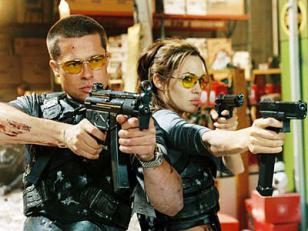 Barad Pitt and Angelina Jolie in Mr. and Mrs. Smith
