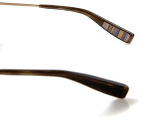 Paul Smith 817 temples with classic multi stripe discreetly printed inside the t
