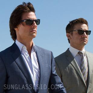 Tom Cruise and Jeremy Renner wearing Persol sunglasses in Mission Impossible 4