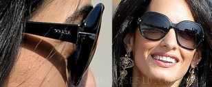 Close up of the Prada sunglasses worn by Amal Alamuddin during the wedding weekend in Venice