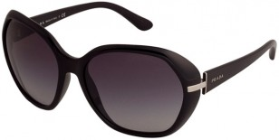 Prada PR 14NS, Shiny Black frame, Grey gradient lenses