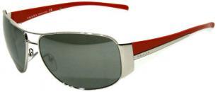 Prada SPR 75G 1BC-7W1, red/silver/white frame, mirror lenses