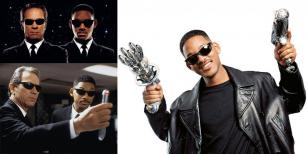Will Smith wearing Ray-Ban 2030 and 2027 Predator sunglasses