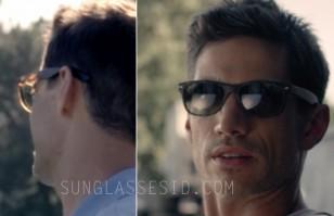 James Carpinello wears Ray-Ban 2132 New Wayfarer sunglasses (tortoise shell color frame) in Let's Kill Ward's Wife