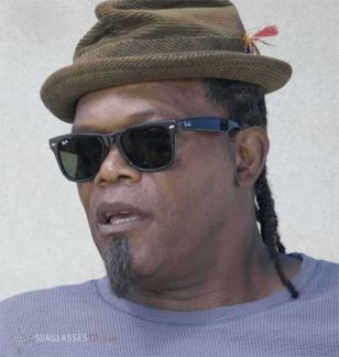Samuel L. Jackson wearing Ray-Ban 2140 sunglasses