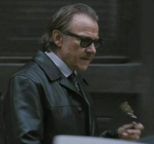 arvey Keitel wearing Ray-Ban 2140 Wayfarer sunglasses in the movie The Ministers
