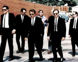 Tim Roth and the Reservoir Dogs gang wearing Ray-Ban sunglasses