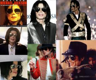 Michael Jackson wearing the Ray-Ban Aviator sunglasses on many occasions