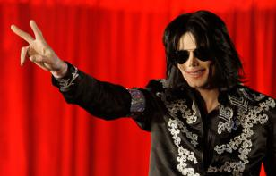 Michael Jackson, during his announcement of his final tour, wearing the Ray-Ban