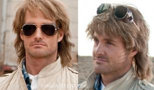 MacGruber wears Ray-Ban 3025 Aviator sunglasses, here in gold (arista), dark len
