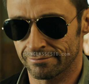 Hugh Jackman wears Ray-Ban 3025 Aviator sunglasses in Real Steel