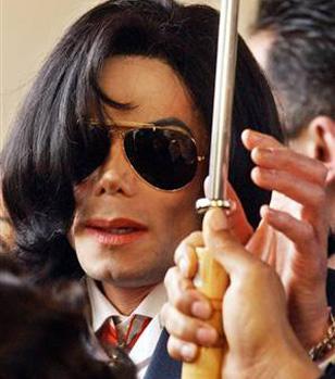 Michael Jackson wearing Ray-Ban 3029 Outdoorsman sunglasses