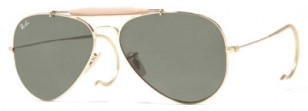 Ray-Ban RB3030 Outdoorsman, gold frame with cable temples