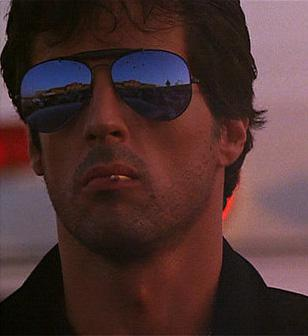 ylvester Stallone wearing Ray-Ban 3030 Outdoorsman sunglasses in Cobra