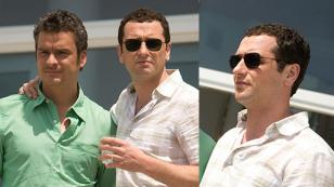 Matthew Rhys with Ray-Ban 3136 Caravan sunglasses in Brothers and Sisters