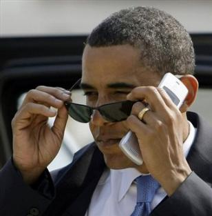 President Barack Obama wearing Ray-Ban 3217 sunglasses