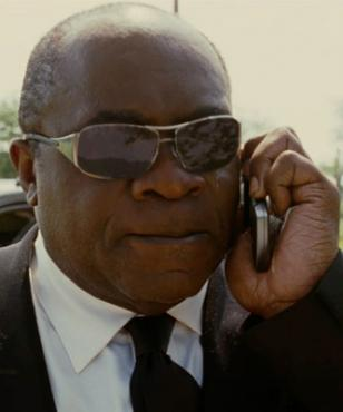 Yaphet Kotto wearing Ray-Ban 3320 sunglasses