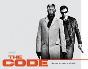 Antonio Banderas wearing Ray-Ban 4073 sunglasses on The Code movie poster